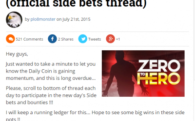 Side Bet On The Daily Coin At Betcoin