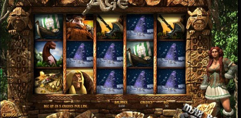 Viking Age Bitcoin 3D Slot At Betcoin.ag